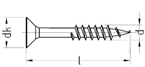 Spanplattenschraube 4,5 x 80 Senkkopf Teilgewinde IVZ