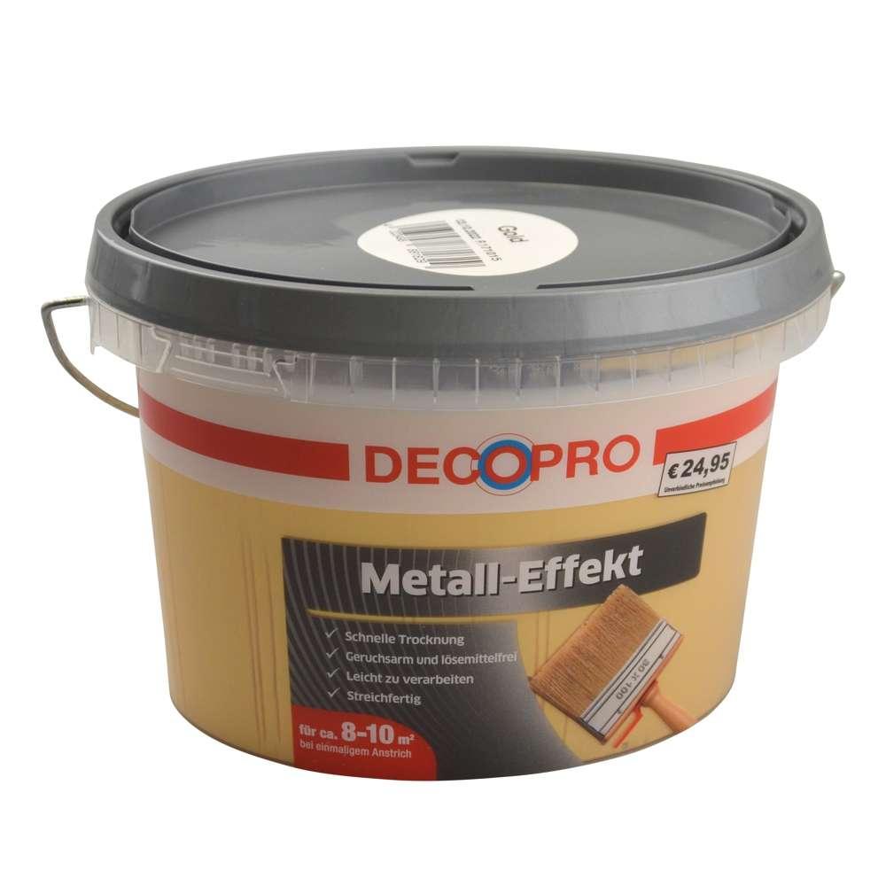 Decopro Wandfarbe Metall Effekt 1 Liter Gold Sonderpreis Baumarkt