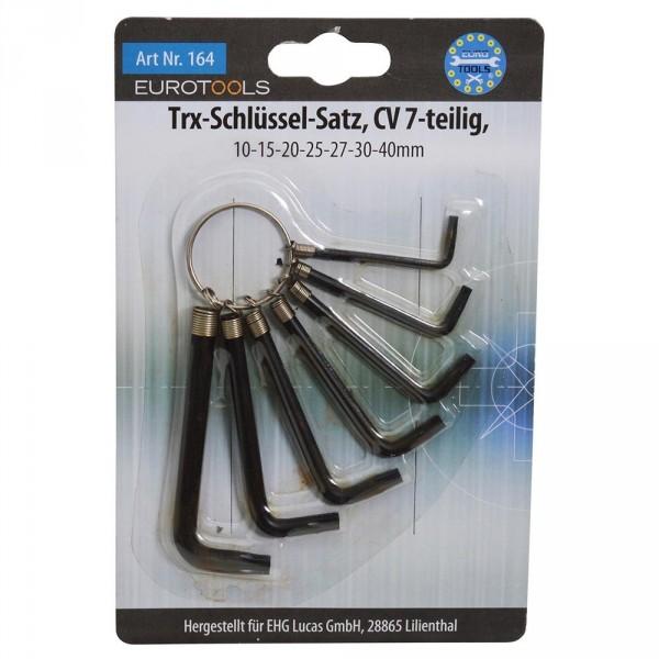 Winkel-Stiftschlüssel Satz 7tlg. am Ring CRV Innen-TX-Profil Winkelschlüssel