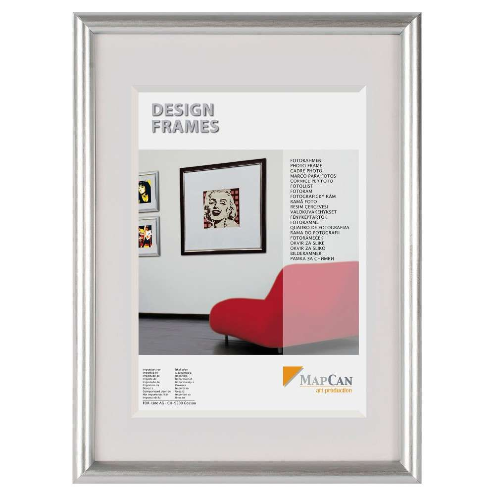 The Wall Kunststoff-Fotorahmen MapCan 61x91,5cm silber Normalglas ...