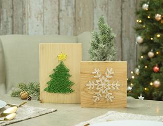 Weihnachtliche Nagelbilder