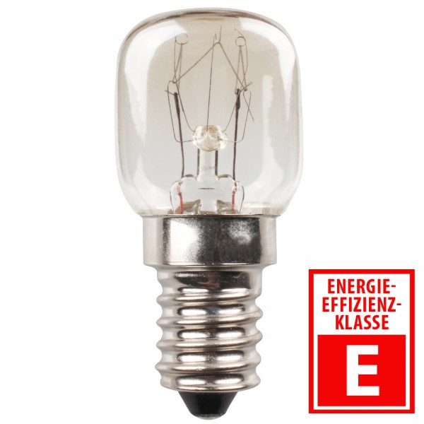 backofenlampe hitzebest ndig klar mit e14 sockel und 15 watt sonderpreis baumarkt. Black Bedroom Furniture Sets. Home Design Ideas