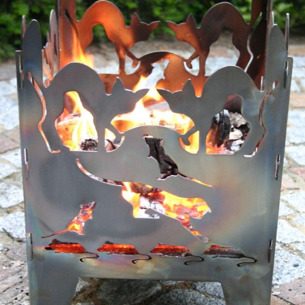 Feuerschale Katze Gr.L SvenskaV Feuerstelle Feuerkorb Blumenschale Blumentopf
