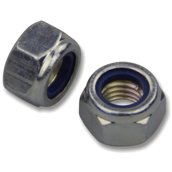 Sicherungsmutter M10 DIN985 mit Klemmring galvanisch verzinkt 6-kant Stoppmutter