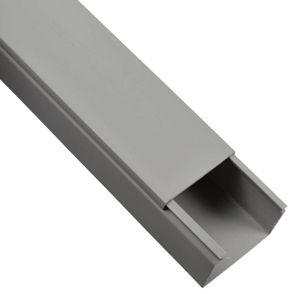 Kabelkanal 60x40mm 2m PVC grau | Sonderpreis Baumarkt