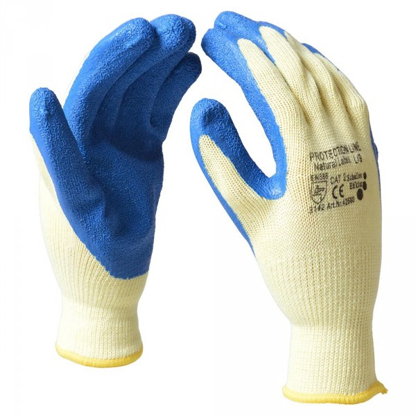 "Handschuhe Gr.L 9"" Baumwolle Latex"