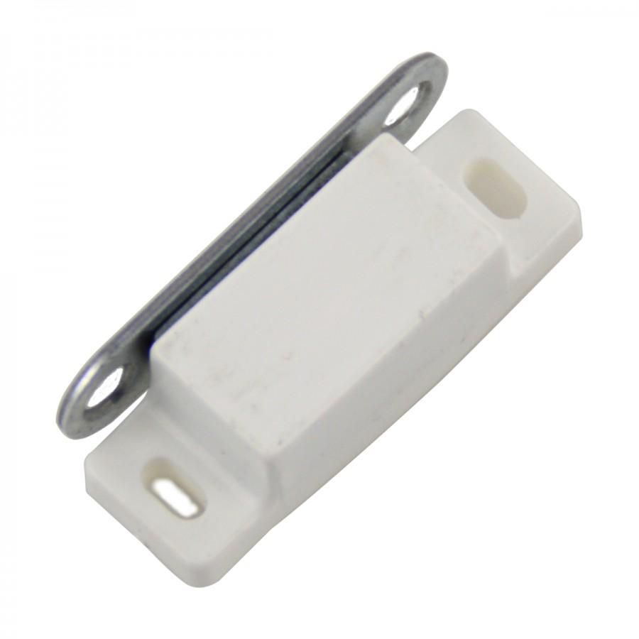 Magnetschnäpper mit Haftmagnet weiß Möbelmagnet Schrank Türmagnet  Türverschluß