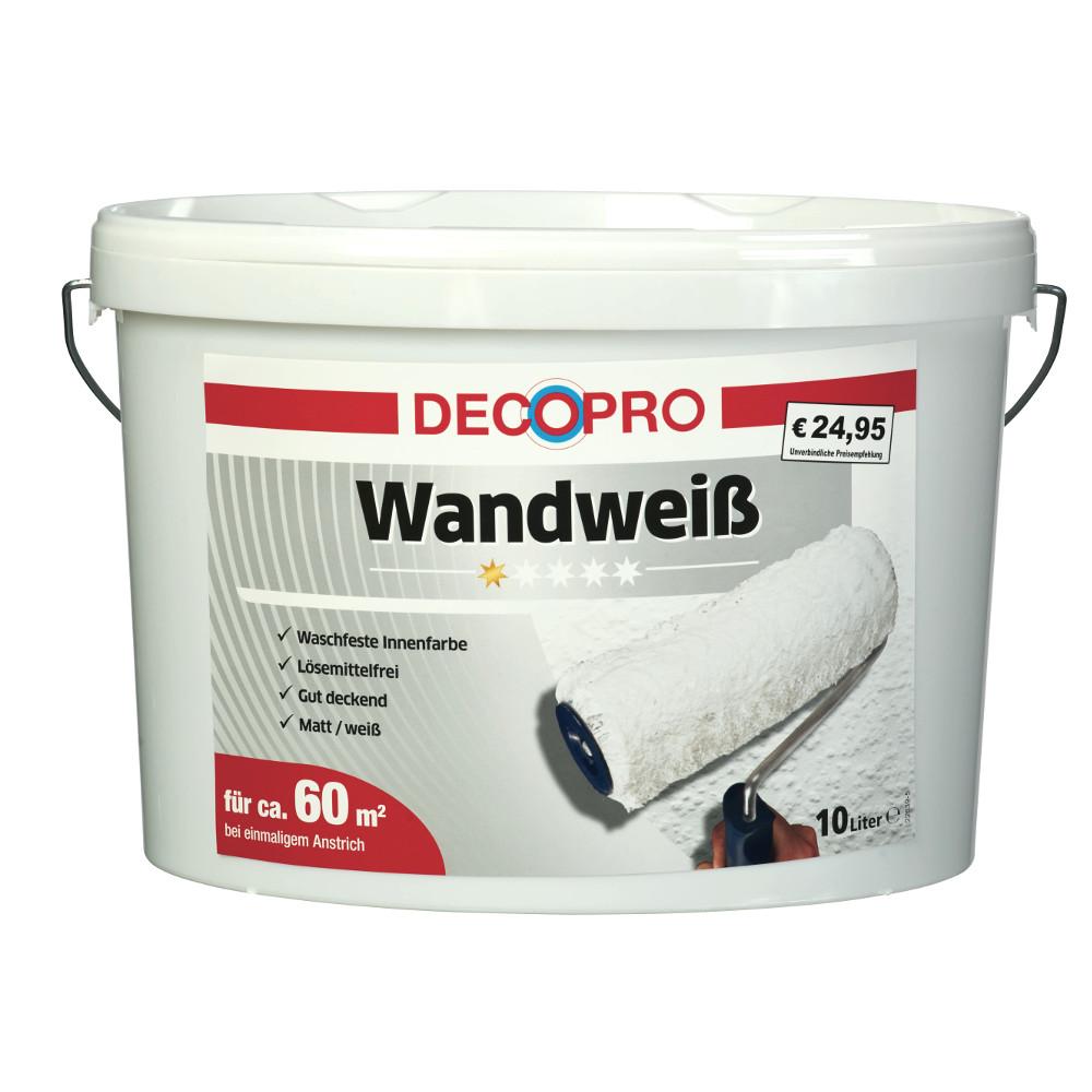 decopro wandwei 10 liter stumpfmatt sonderpreis baumarkt. Black Bedroom Furniture Sets. Home Design Ideas