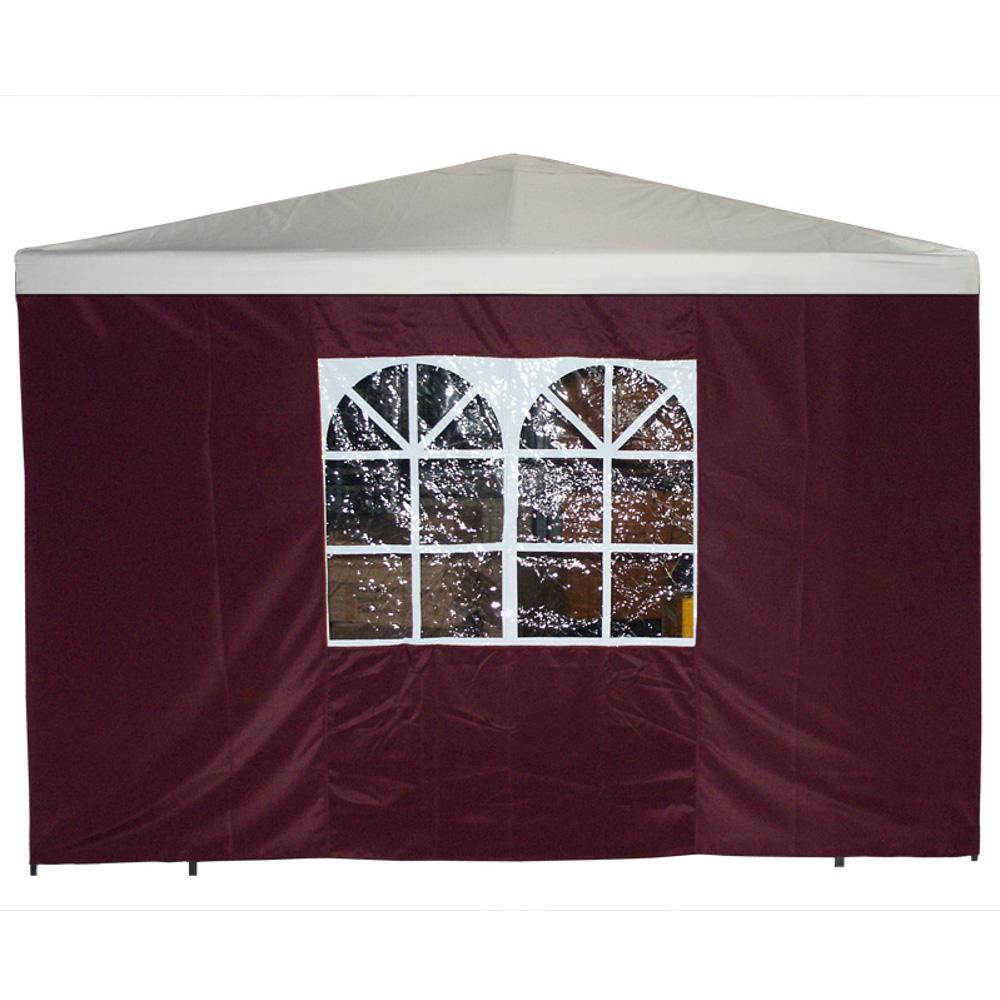 Seitenplane bordeaux mit fenster f r pavillon 3 x 3 m for Fenster schnelle lieferung