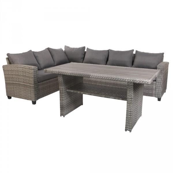 Terrassen-Lounge Set Leon aus Polyrattan und passenden Auflagen ...