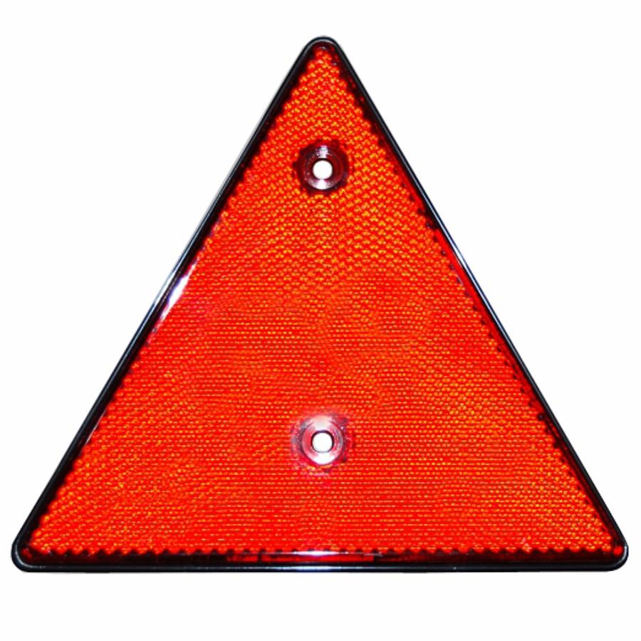 Dreieck R/ückstrahler Sicherheit Roter Reflektor des hinteren Dreiecks Anschrauben f/ür RV Trucks Trailers Gatepost Boot Auto