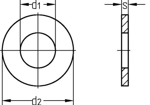 Bauscheibe M8 DIN440 Rundloch A2 Edelstahl Unterlegscheibe Beilagscheibe