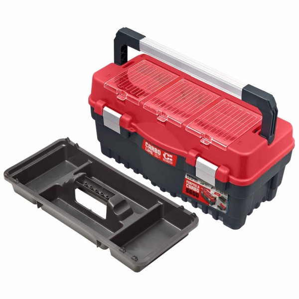 Werkzeugkoffer Formula S700 rot/schwarz Polycarbonat Deckel
