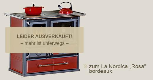 "La Nordica Küchenherd ""Rosa"" in bordeaux"