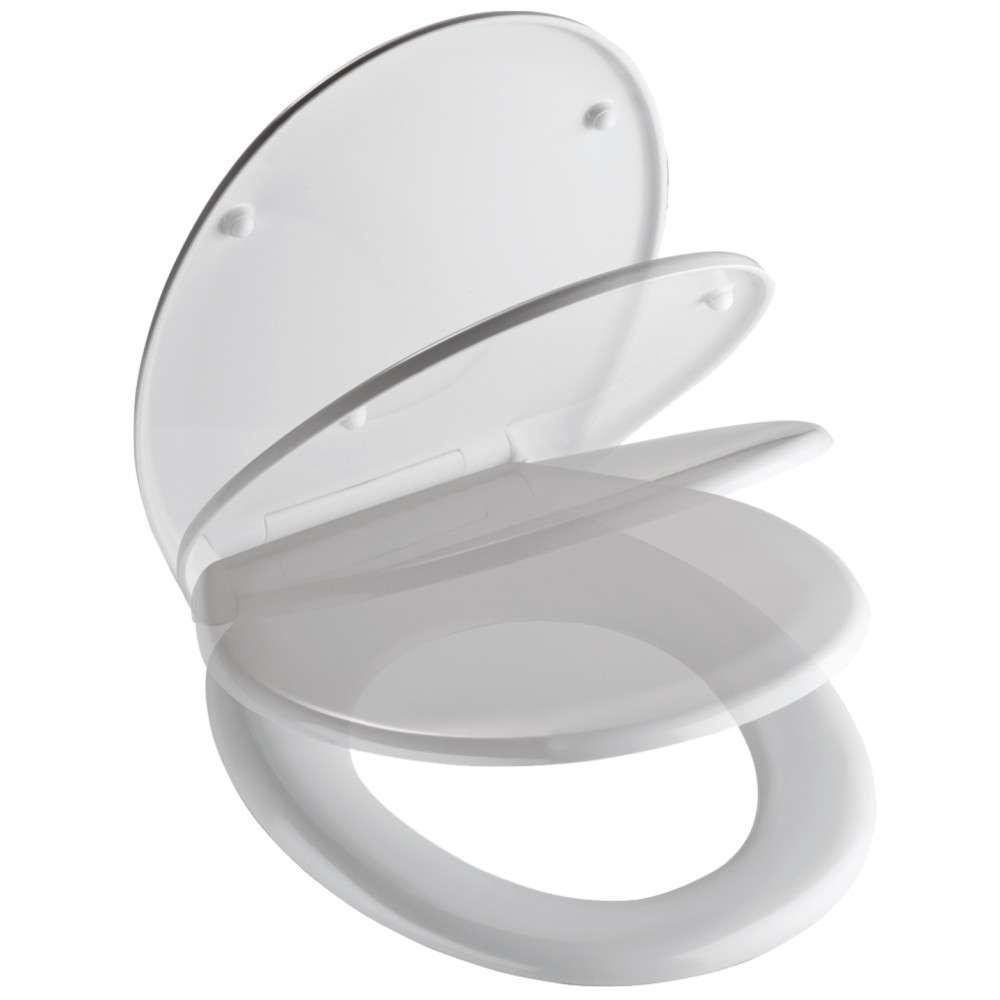 WC Sitz Duroplast Absenkautomatik Schnellverschluss weiß inkl