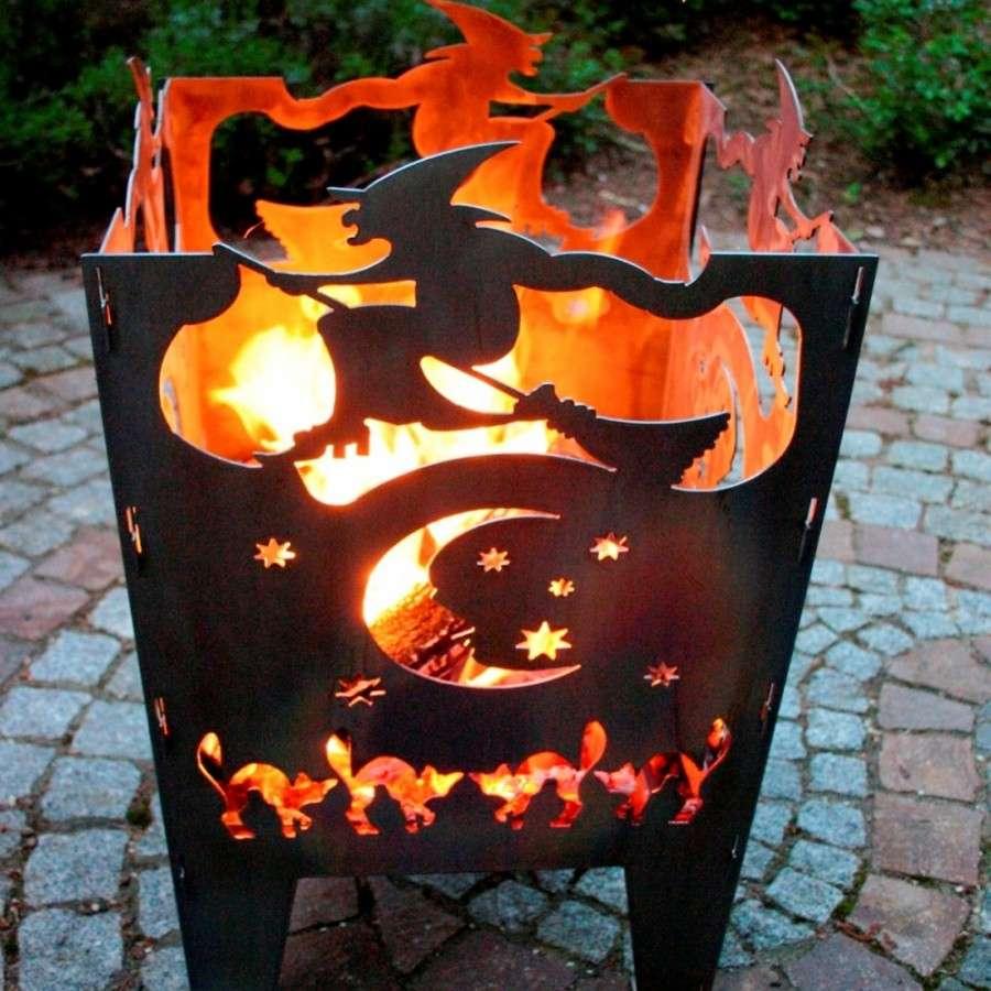 point garden feuerschale 73cm gartengrill grill gu eisen. Black Bedroom Furniture Sets. Home Design Ideas