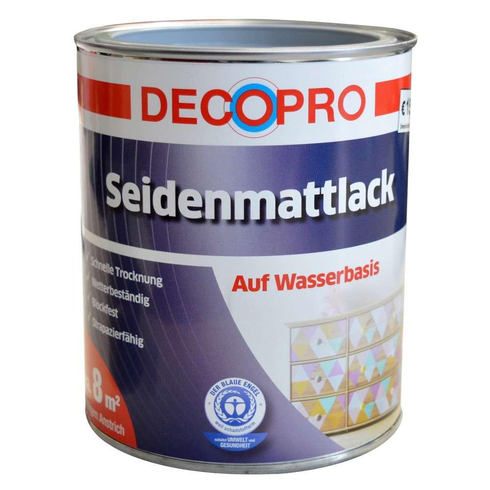 decopro acryl seidenmattlack 750 ml silbergrau   sonderpreis baumarkt