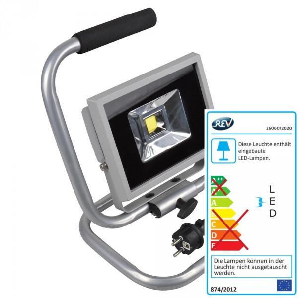LED Fluter auf Ständer 20W 1600Lumen IP65 silber außen Strahler Scheinwerfer