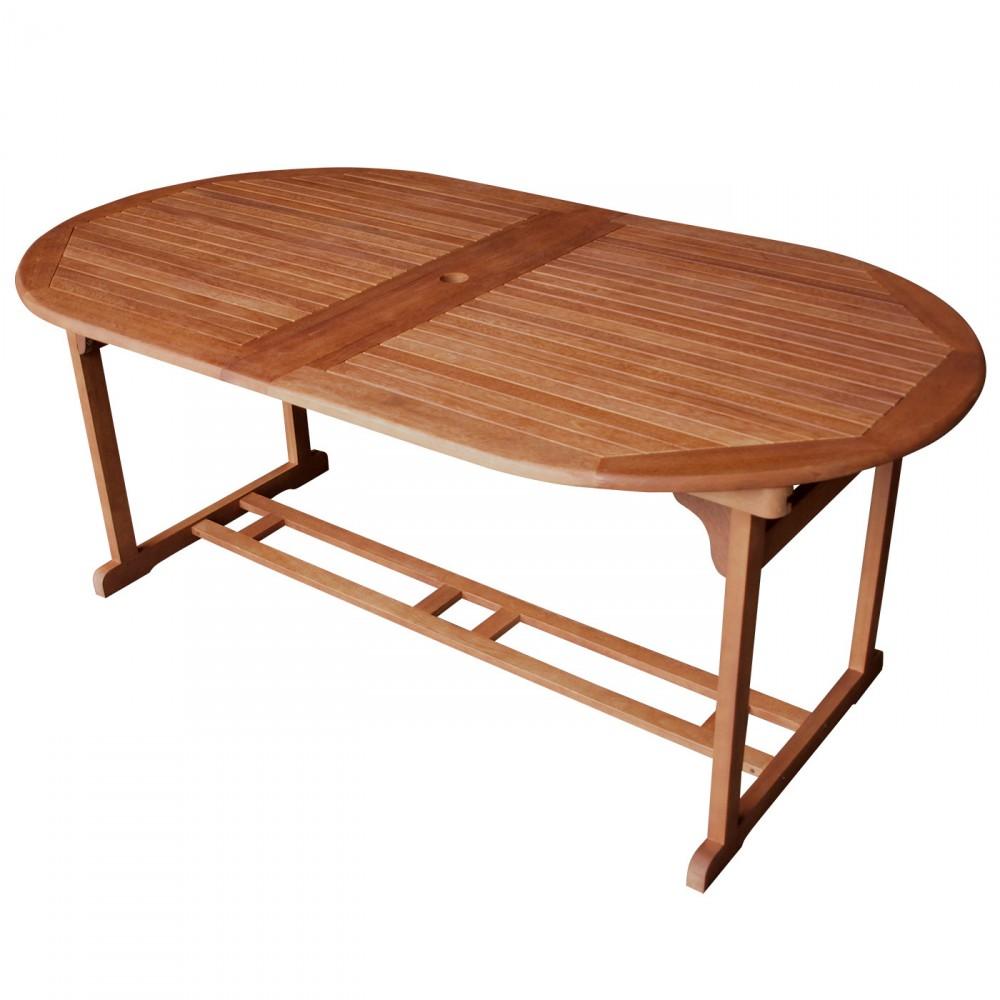 gartentisch lago 180 260x100x75cm ausziehbar eukalyptus ge lt sonderpreis baumarkt. Black Bedroom Furniture Sets. Home Design Ideas