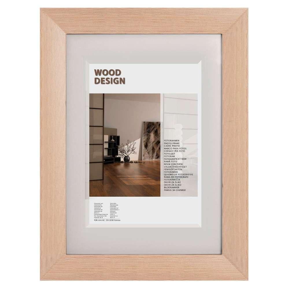 The Wall Echtholz-Fotorahmen Milano 21x29,7cm Eiche Normalglas ...
