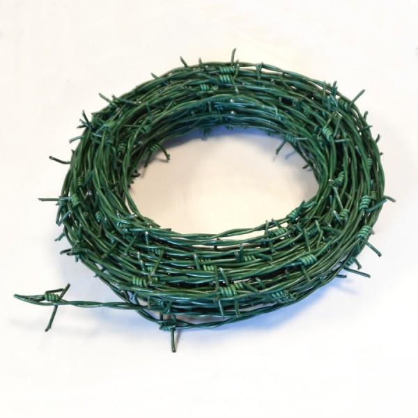 Stacheldraht 2,8mmx25m Stahl grün Sperrdraht Maschendrahtzaun Drahtzaun