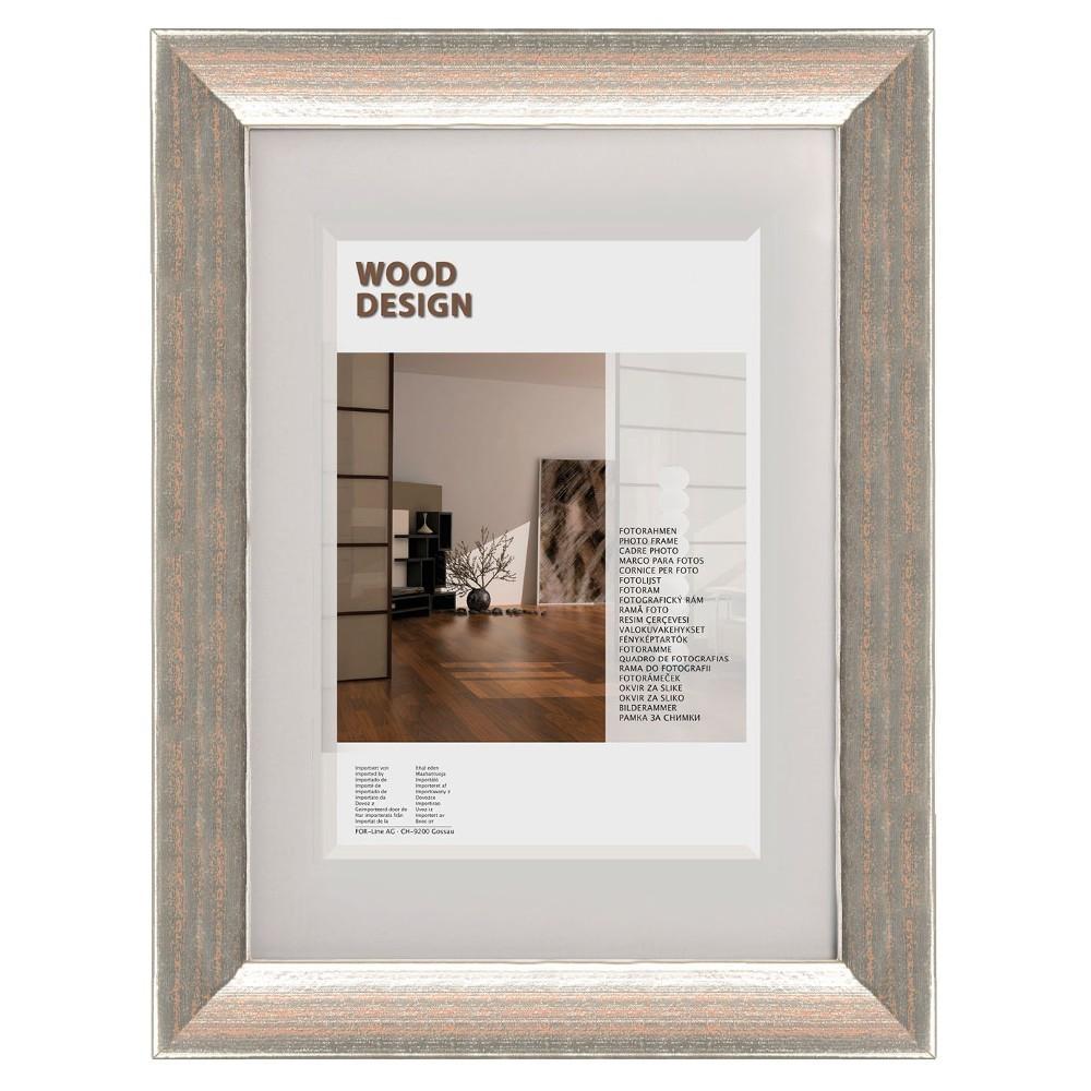 The Wall Echtholz-Fotorahmen Milano 10,5x15cm Klassik-Silber ...