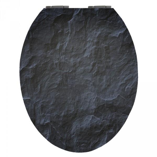 wc sitz acryl absenkautomatik dekor black stone holzkern inkl befestigung sonderpreis baumarkt. Black Bedroom Furniture Sets. Home Design Ideas