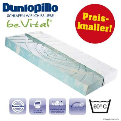 Formschaum Matratze 80x200cm multifunktional Dunlopillo beVital
