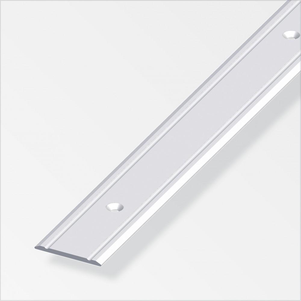bergangsprofil 100x3x0 2cm superflach aluminium silber eloxiert gelocht sonderpreis baumarkt. Black Bedroom Furniture Sets. Home Design Ideas