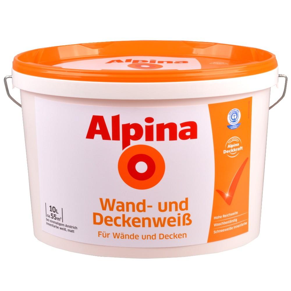 alpina wandfarbe wei 10 liter wand und deckenwei sonderpreis baumarkt. Black Bedroom Furniture Sets. Home Design Ideas