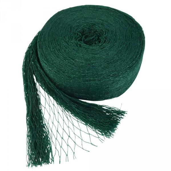 Vogelschutznetz weitmaschig 5x4m PE grün Laubschutznetz Teichnetz Obstbaumnetz