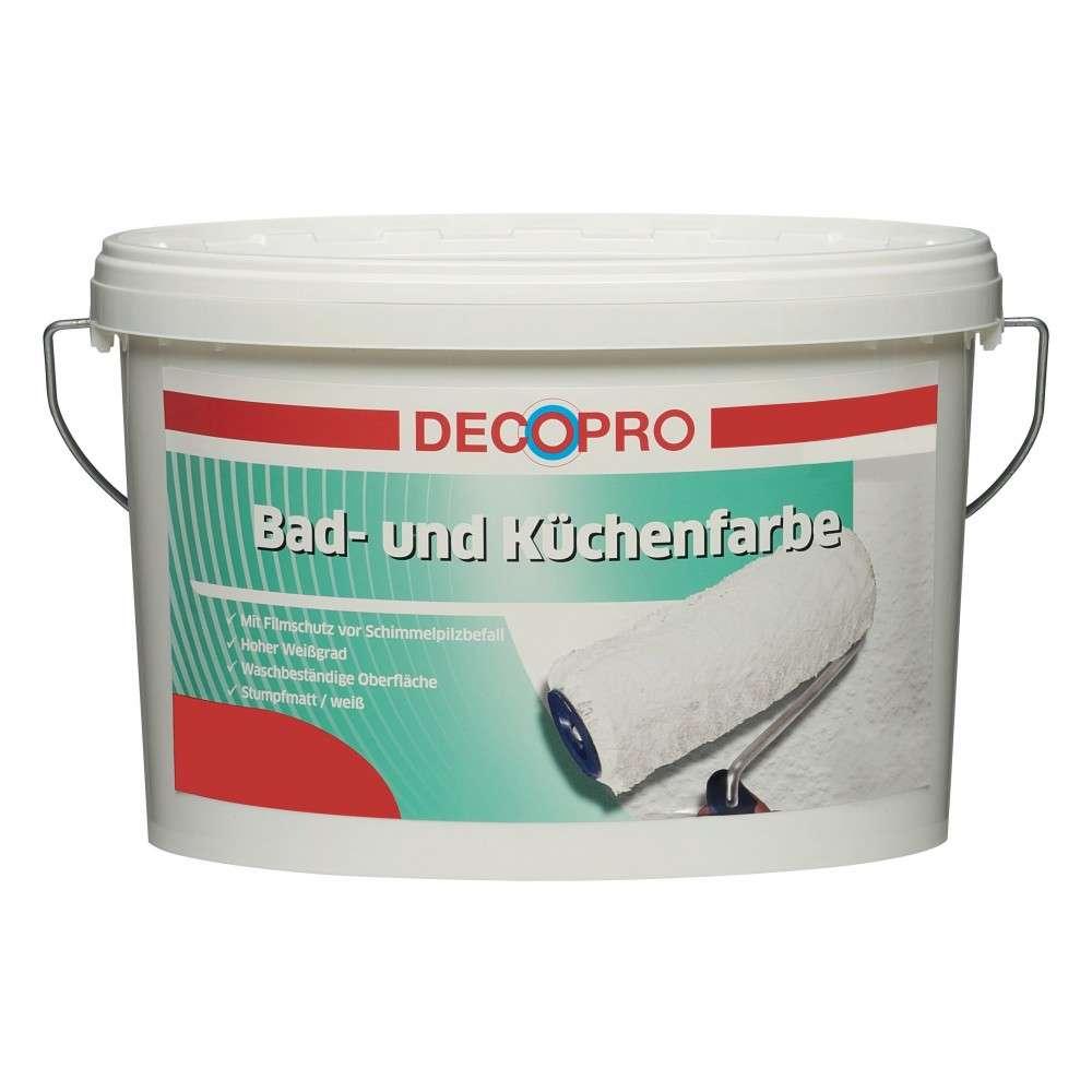 DecoPro Bad und Küchenfarbe 5 Liter weiß stumpfmatt