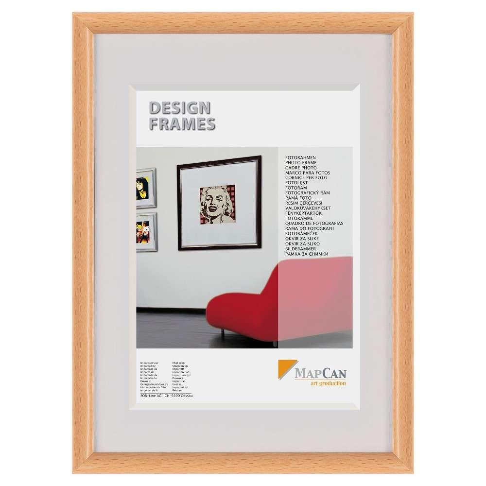The Wall Kunststoff-Fotorahmen MapCan 40x50cm Buche Normalglas ...