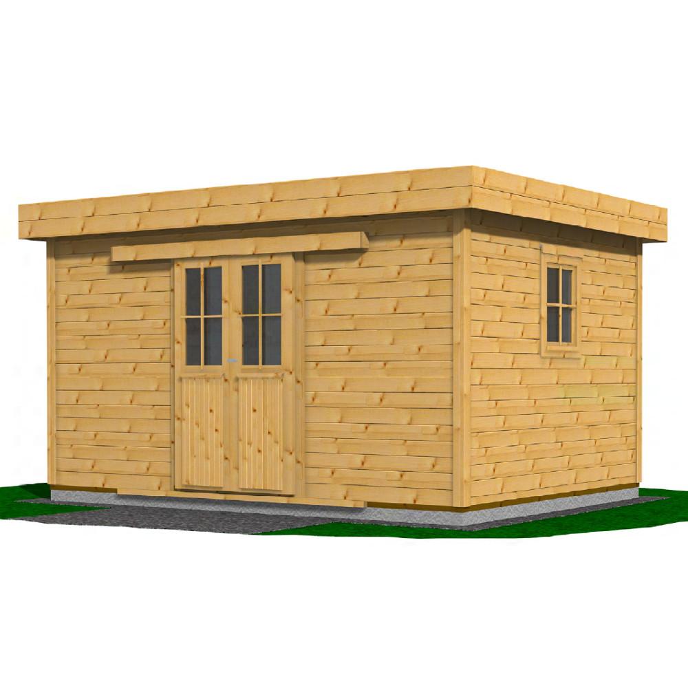 gartenhaus aalborg mit doppel schiebet r 400 x 300 cm sonderpreis baumarkt. Black Bedroom Furniture Sets. Home Design Ideas