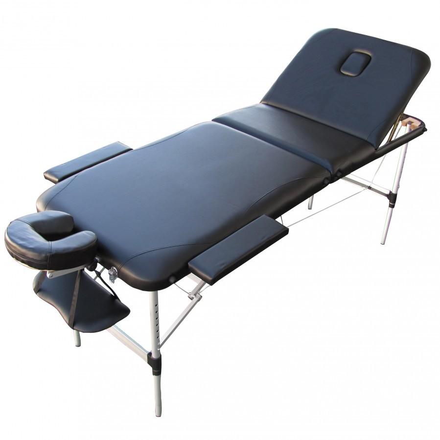 alu massageliege xxl 195x71cm 3 zonen schwarz sonderpreis baumarkt. Black Bedroom Furniture Sets. Home Design Ideas