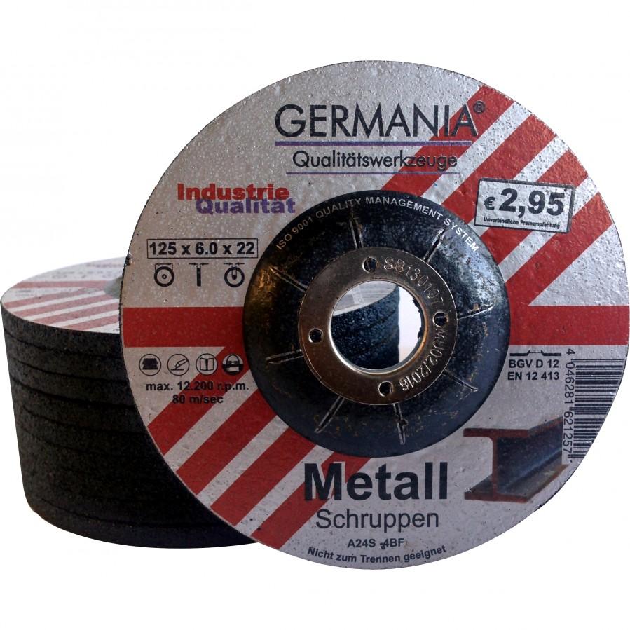 Schruppscheiben Metall 125x6 0 10stuck Bombiert Schruppscheibe
