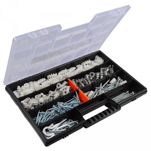 Gipskarton Sortimentsbox 235tlg. Gipskartondübel Spreizdübel Schrauben