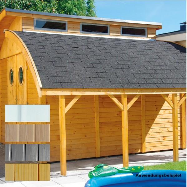 Schleppdach für Gartenhaus Nautic Elementhaus | Sonderpreis Baumarkt