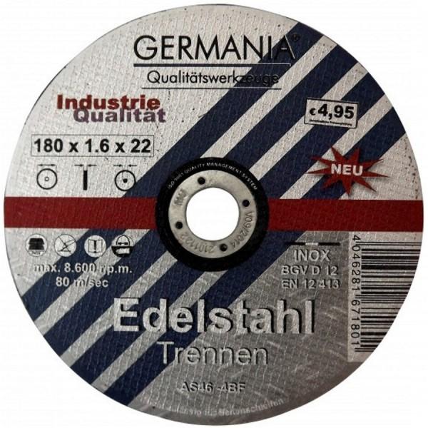 Trennscheibe Edelstahl INOX 180x1,6 Industriequalität Trennen
