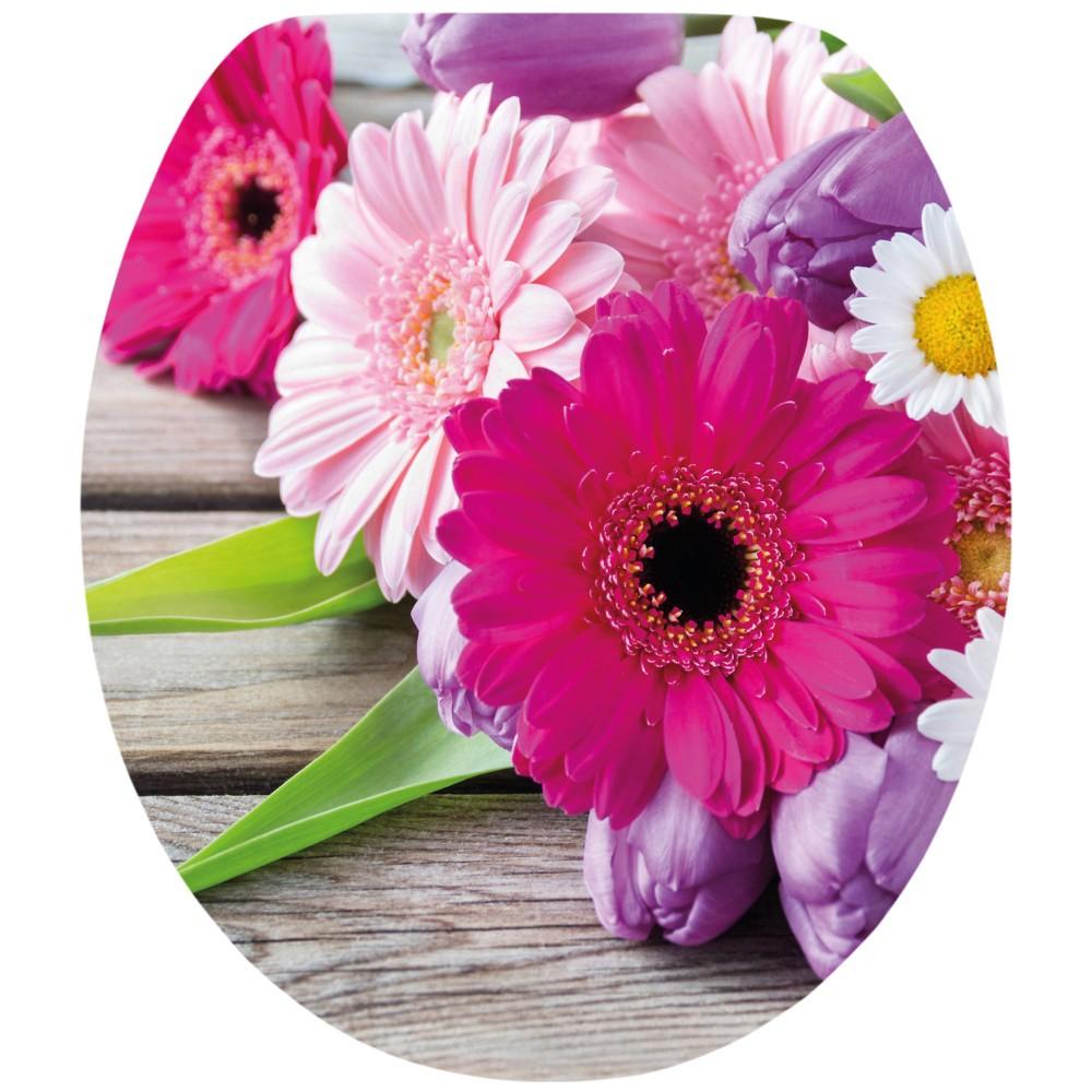 wc sitz acryl absenkautomatik dekor flowers holzkern inkl befestigung sonderpreis baumarkt. Black Bedroom Furniture Sets. Home Design Ideas