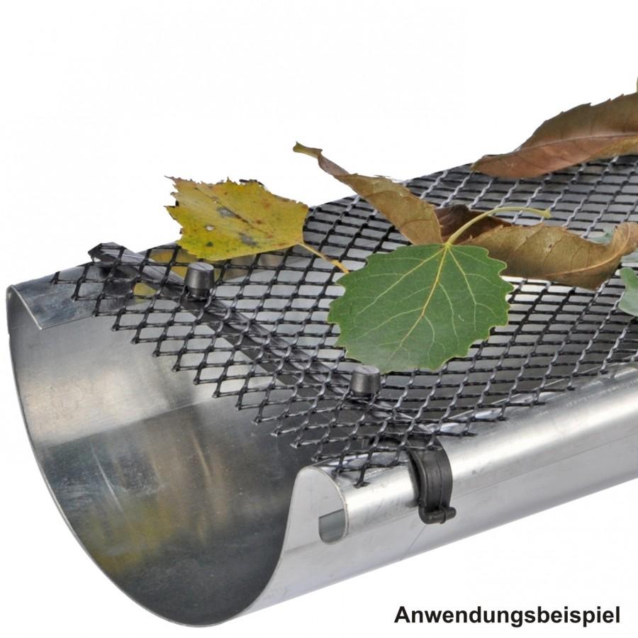 Dachrinne Laubschutz dachrinnenschutz 6m inkl befestigung dachrinne laubschutz laubfang