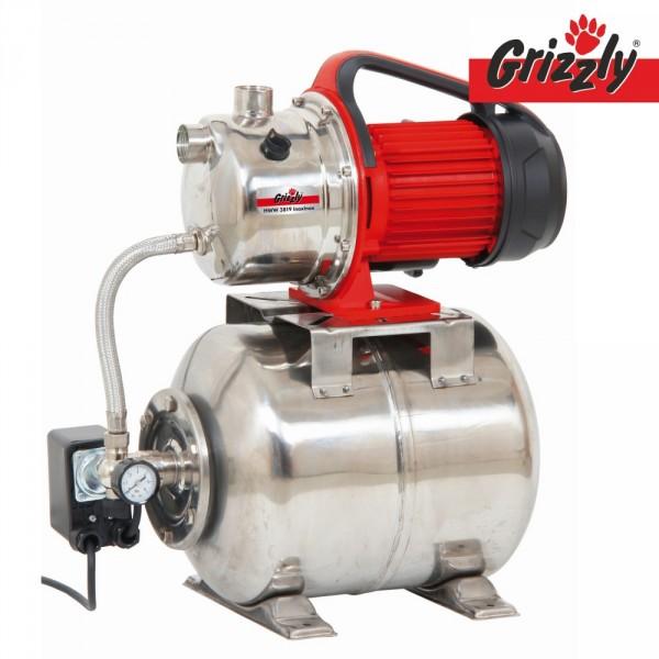 Grizzly Hauswasserwerk HWW 3819 Inox Wasserpumpe Gartenpumpe Druckpumpe