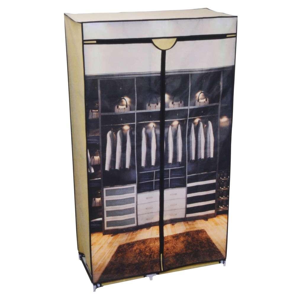 Kleiderschrank 88x45x160cm faltbar bedruckt Faltschrank ...