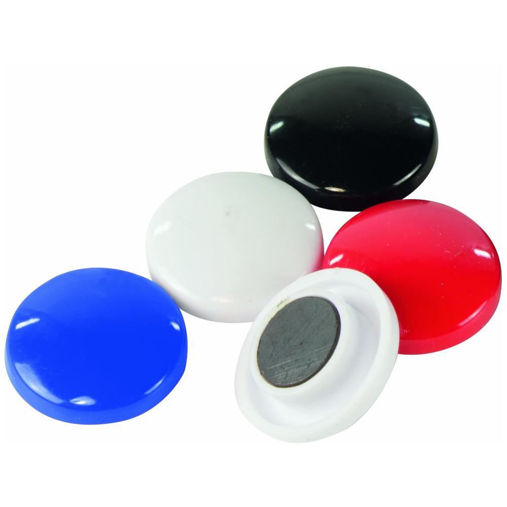 28mm schwarz Durchmesser Farbe rund 5 Magnete