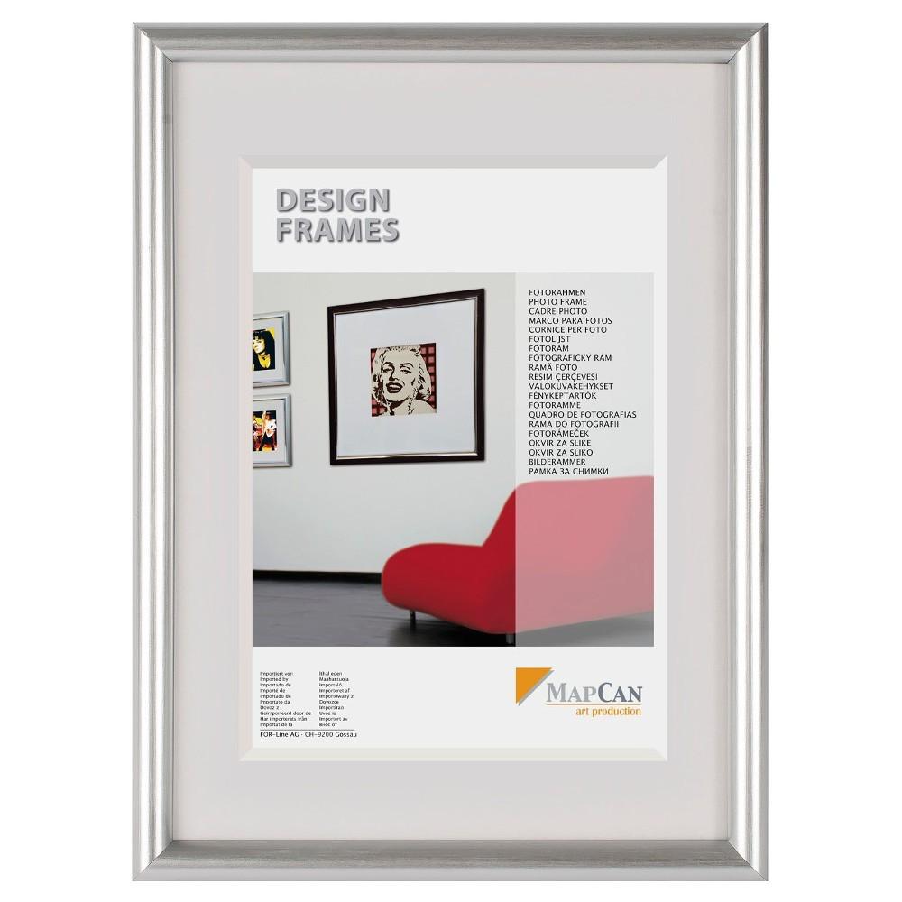 The Wall Kunststoff-Fotorahmen MapCan 50x70cm silber Normalglas