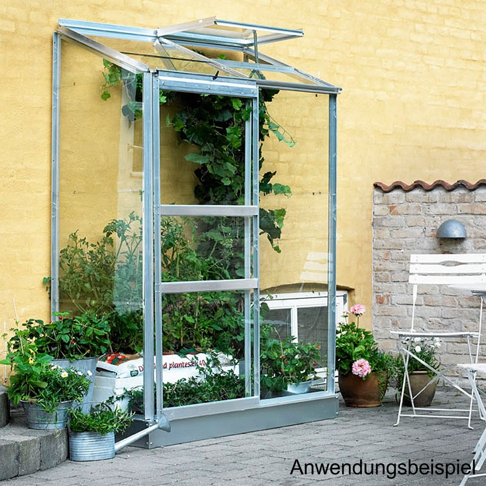 halls gew chshaus altan2 132x69cm 0 91m aluminium blankglas sonderpreis baumarkt. Black Bedroom Furniture Sets. Home Design Ideas