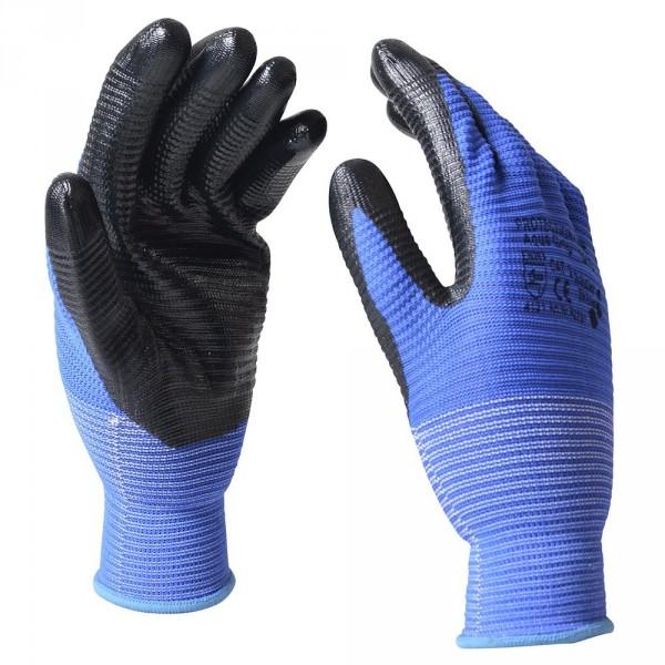 "Handschuhe Gr. XL 10"" Aqua Grip Nitril"