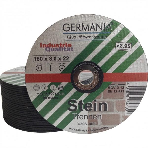 Trennscheiben Stein 180x3,0 25Stück Industriequalität Trennscheibe
