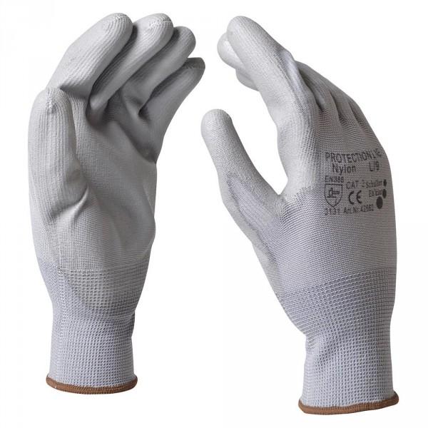 "Handschuhe Gr. XL 10"" Nylon grau"
